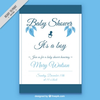 Beautiful and elegant baby shower card