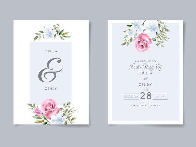 Красивые и элегантные цветочные шаблоны свадебных приглашений