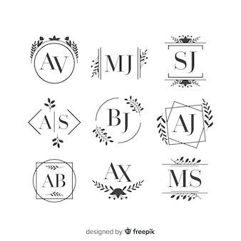 Красивый и элегантный логотип или логотип для свадьбы или цветочницы
