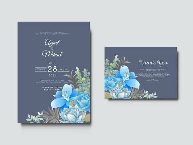 美しくエレガントな結婚式の招待カード