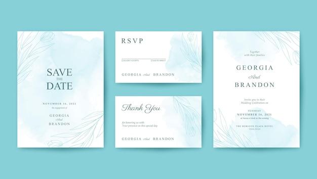 Красивый и минималистичный шаблон свадебного приглашения tosca