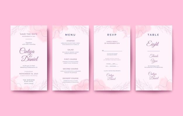 Красивое и милое свадебное приглашение на мобильный