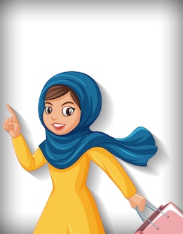 Красивая арабская леди мультипликационный персонаж Бесплатные векторы