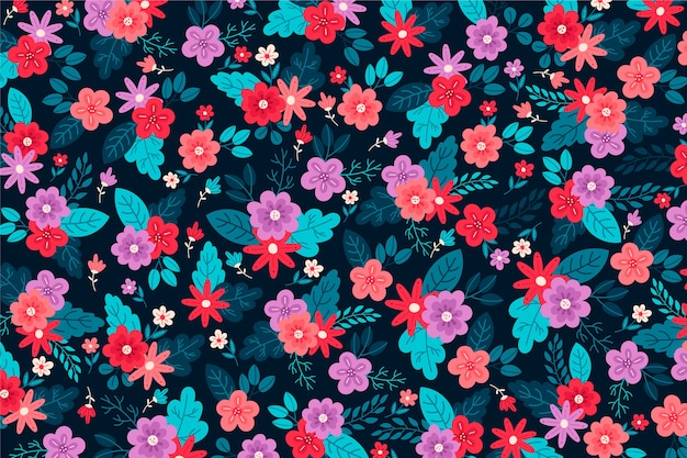 Beautiful arrangement of ditsy floral background