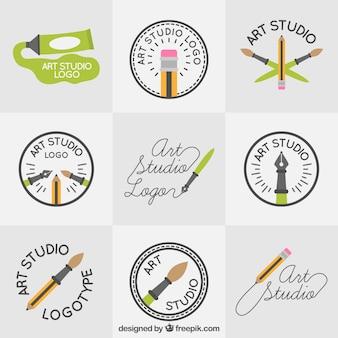 Beautiful art studio logos