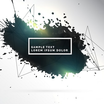 Beautiful artistic background with ink splashes
