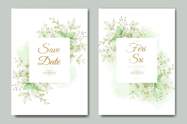 Красивые осенние осенние листья свадебные приглашения