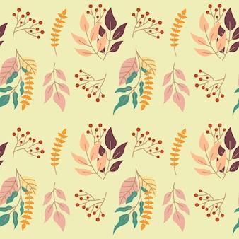 Beautiful autumn flower seamless pattern background