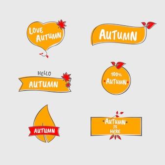 Beautiful autumn label
