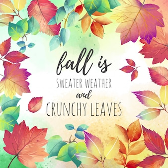 Beautiful Autumn Quote Background