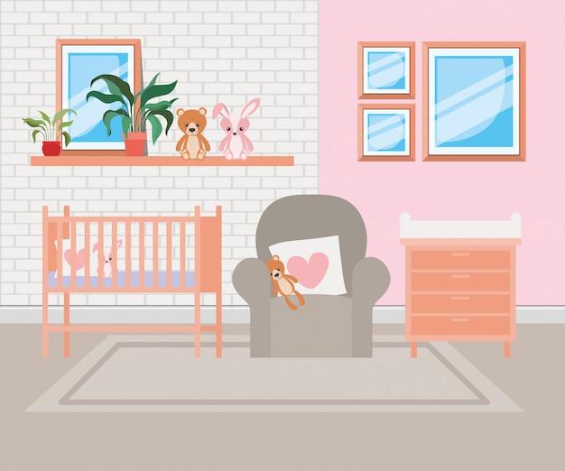 Bella scena della stanza del bambino