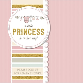 Beautiful baby shower card