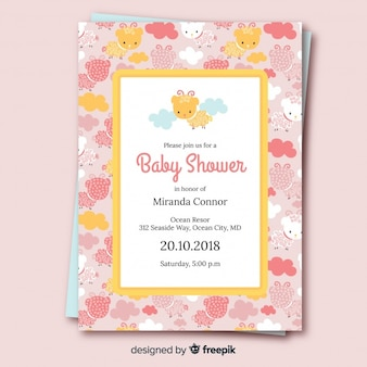 Beautiful baby shower cover