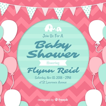 Beautiful baby shower design