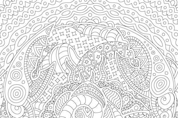 Beautiful background for coloring book with cancer