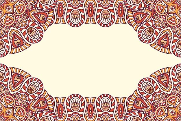 Bellissimo sfondo decorato con cornice colorata mandala