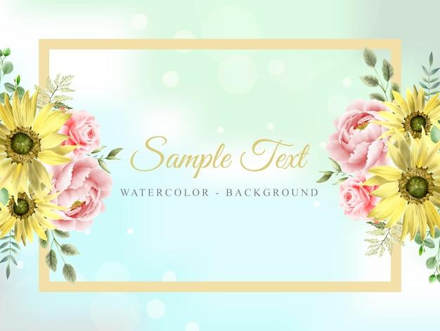 Красивый фон цветочный акварель