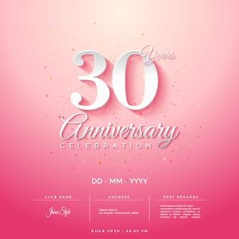 기념일 축하 초대를 위한 아름다운 배경