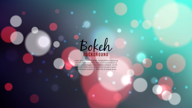 Beautiful background with bokeh lights effec
