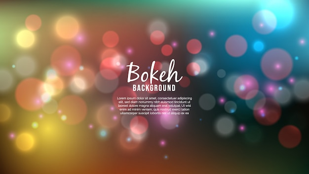 Beautiful background with bokeh lights effect