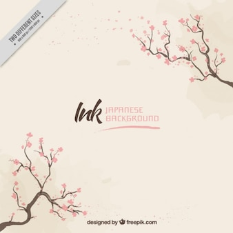 Beautiful background with branches and flowers