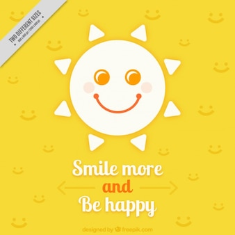 Beautiful background with fantastic phrase and smiling sun