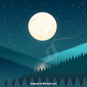 Bellissimo sfondo con la luna piena