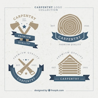 Beautiful badges for carpentry