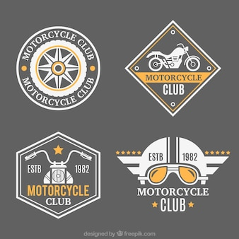 Beautiful badges for motorcycles