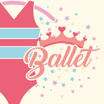 Beautiful ballet clothes pink crown