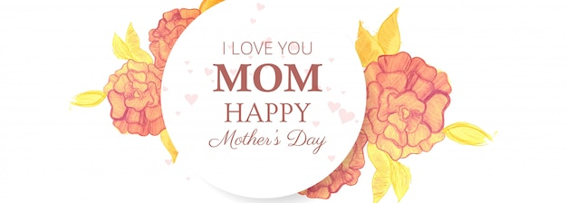 Beautiful banner happy mother's day card background