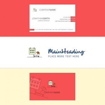 Beautiful beach logo and business card. vertical