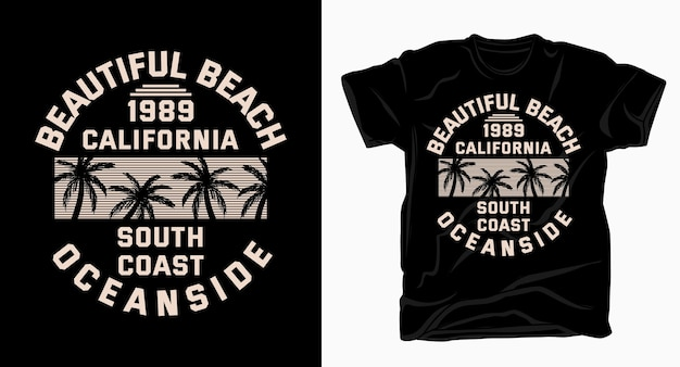 Beautiful beach oceanside typography  for t-shirt