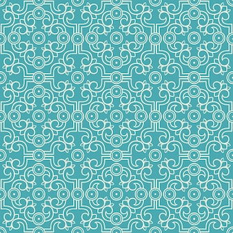Beautiful beige seamless retro pattern with flowers and leaves on a turquoise background
