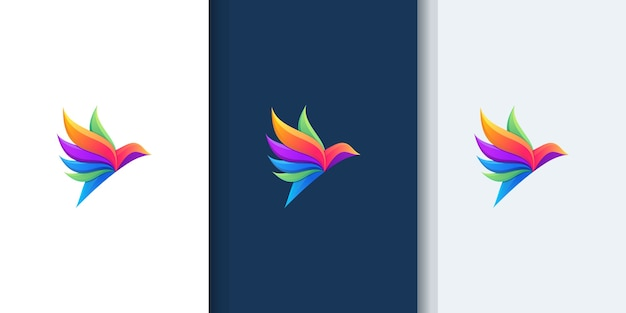 Beautiful bird gradient logos for design inspiration