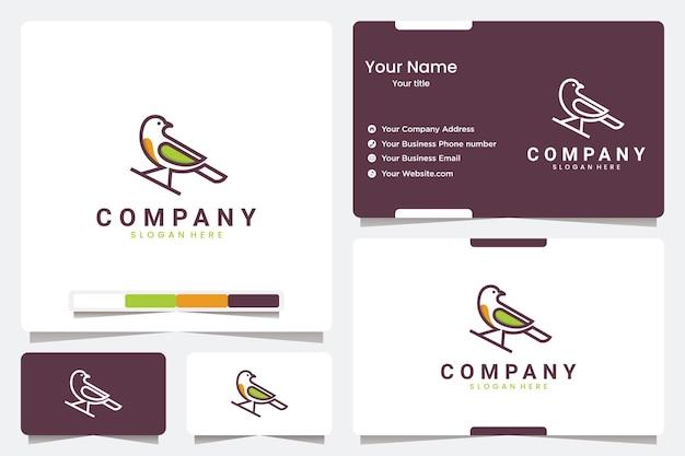 Красивые линии птиц, вдохновение для дизайна логотипа