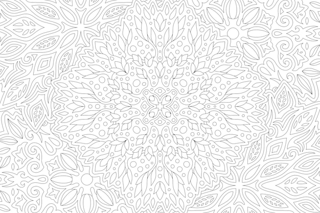Красивые черно-белые иллюстрации для взрослых книжка-раскраска с линейным узором абстрактный прямоугольник