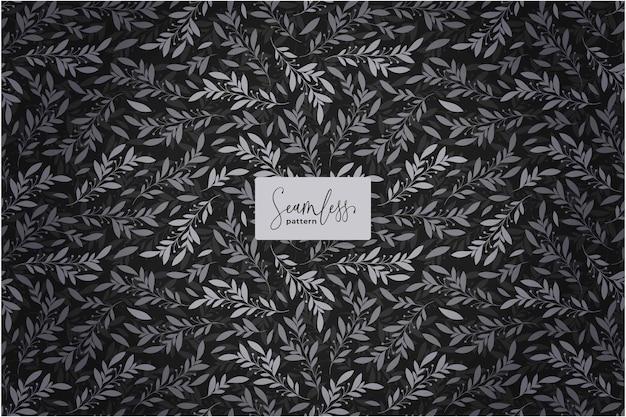 아름다운 검은 꽃 패턴
