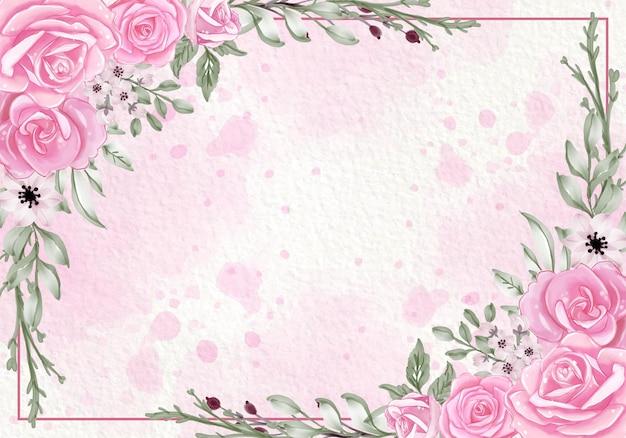 Bellissimo fiore in fiore foglie rosa
