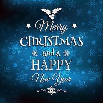 Natale e capodanno sfondo con tipo decorativo