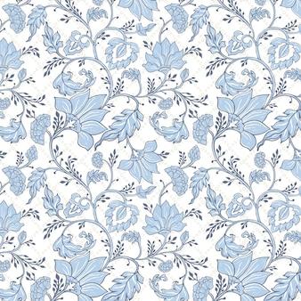 美しい青いエスニックパターン