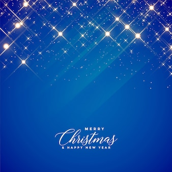 Beautiful blue sparkles background for christmas season