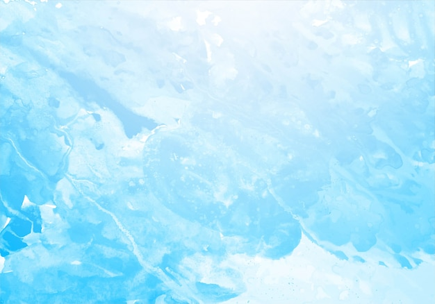 Beautiful blue splash watercolor texture background