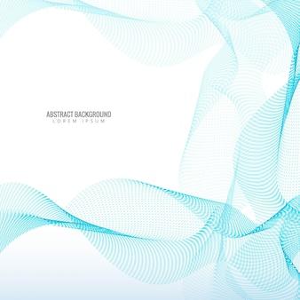 Красивый синий стильный фон с пунктирными волнами