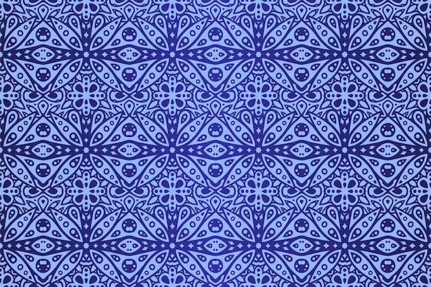抽象的な星空のタイルのシームレスなパターンと美しい青いベクトル図