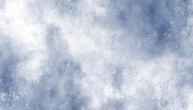美しい青い水彩画の背景