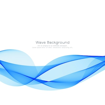 Beautiful blue wave background design
