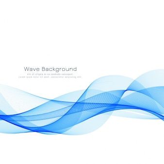 Beautiful blue wave background