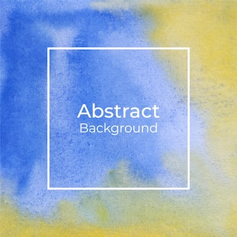 Beautiful blue and yellow watercolor background