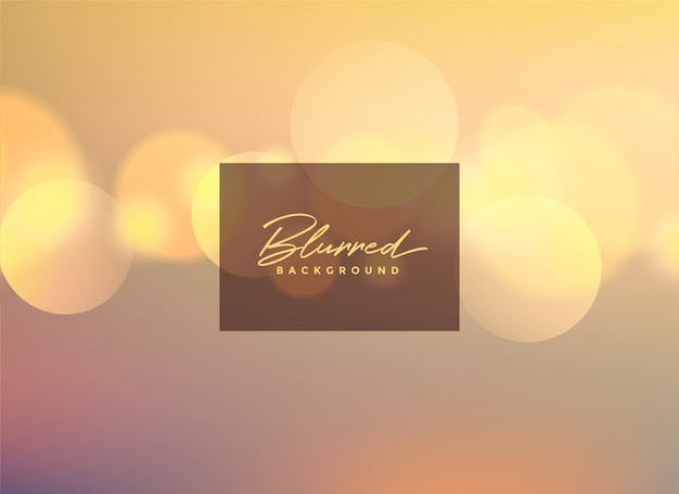 Beautiful blurred bokeh background design